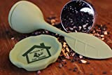 Tea Infuser 2 Pack Butler in the Home Loose Leaf Tea Water Infuser Steeper Strainer Filter Silicone and Stainless Steel Bottom Drip Cup Dark Green