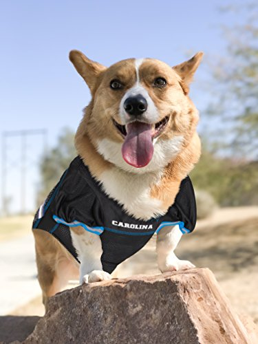 Image of Pets First NFL CAROLINA PANTHERS DOG Jersey, Small