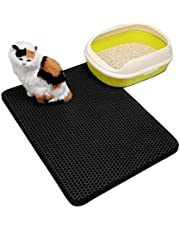 Gaorui Premium Paws Pets Cat Litter Trapping Honeycomb Double Layer Waterproof Urine Proof Trapper Mat for Litter Boxes