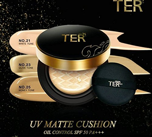 TER UV MATTE CUSHION OIL CONTROL #21 SPF50PA++ COVER FACE SKIN TONE PREMIUM + REFILL by jawnoy (Matt Touch Foundation Oil)