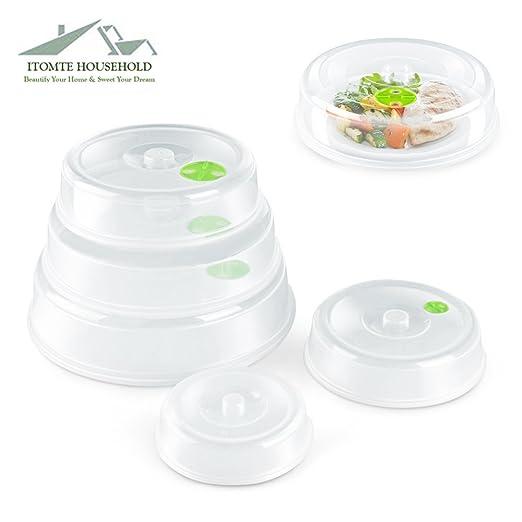 Juego de 5 tapas Itomte para platos de microondas, diferentes ...
