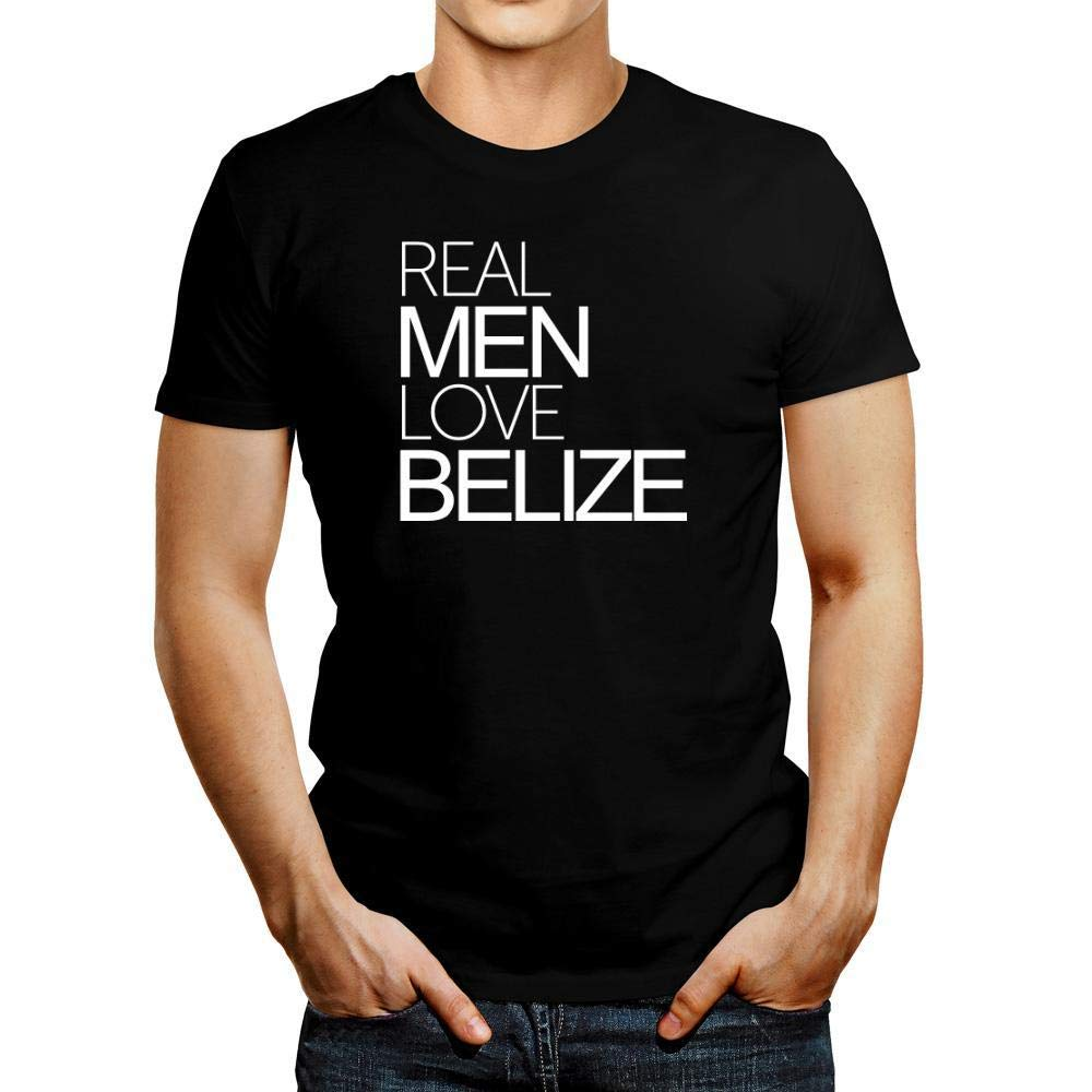 Idakoos Real Men Love Belize Bold T-Shirt