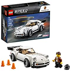 Kids and all Porsche fans will love to build, race and proudly display the LEGO Speed Champions 75895 1974 Porsche 911 Turbo 3.0. This white, collectible toy car model of one of the world's most recognizable classic sports cars has a minifigu...