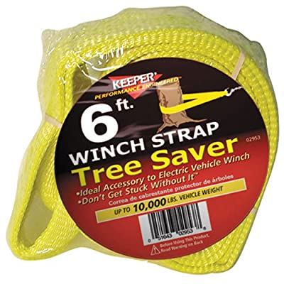 KEEPER 02953 Winch Strap Tree Saver with Loops 6' x 3'' 10,000 lb Vehicle Capacity: Automotive