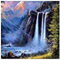 Adarl Diy Oil Painting Paint By Number Kit Image Drawing On Canvas By Hand Coloring Arts Crafts Sewing New Waterfall
