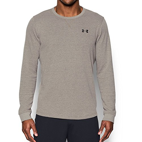 Under Armour Men's Waffle Crew, Carbon Heather /Black, XXX-Large