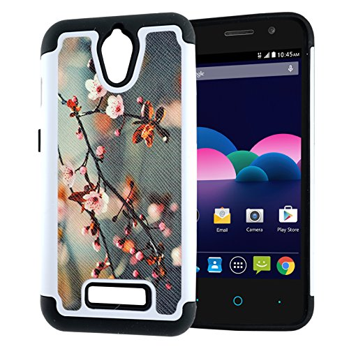 (ZTE Obsidian Case, Hybrid Heavy Duty Case, Customerfirst for ZTE Obsidian Z820 (T-Mobile/MetroPCS) 2-Piece Dual Layer Style Hard Cover (Blossom Green))