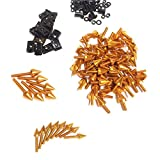 HK MOTO- Universal Spike Fairing Bolt kit Screws Sportbike Pack For Yamaha YZF R1 R6 R6S GOLD
