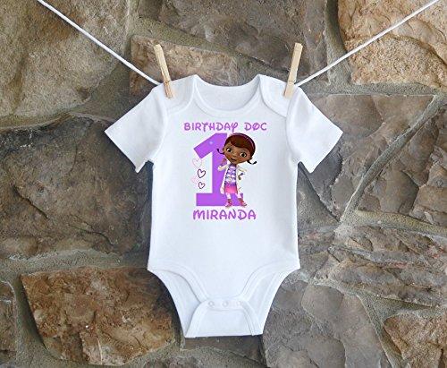 Doc McStuffins Birthday Shirt, Doc McStuffins Birthday Shirt For Girls, Personalized Girls Doc McStuffins Birthday Shirt, Customized Doc McStuffins Birthday Shirt by Lil Lady Treasures