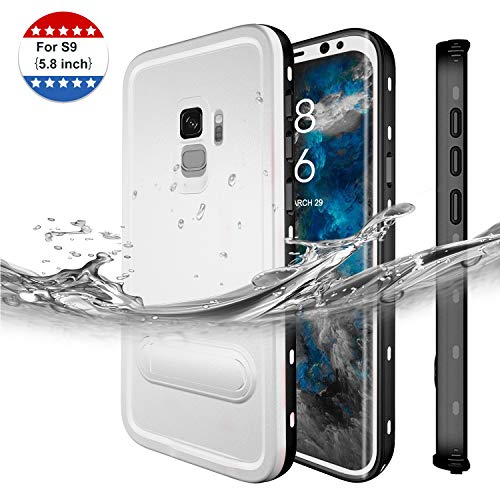 (Galaxy S9 Waterproof Case Sydixon Waterproof Case with Built-in Screen Protector, Fully Sealed Shock Dirt Snow Proof Cover Case with Kickstand (5.8