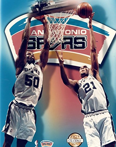 TIM DUNCAN DAVID ROBINSON SPURS LIMITED EDITION UNSIGNED 8X10 PHOTO by ALL STAR CARDS & COLLECTIBLES