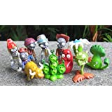 10 X Plants Vs Zombies Game Series Figure Role Display Toys Zombie Yeti PVC Decor