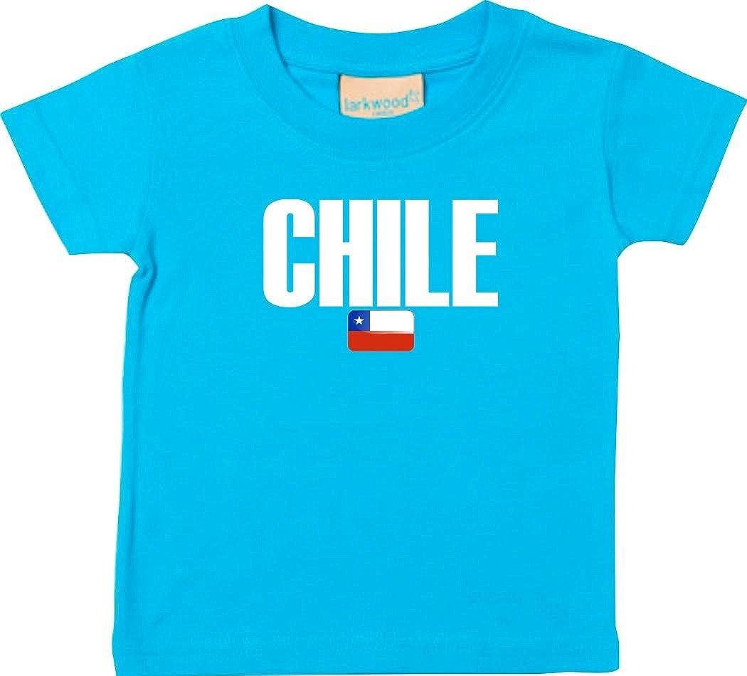 Shirtstown Bebé Niños Camiseta Fútbol Camiseta de País Chile: Amazon.es: Ropa y accesorios