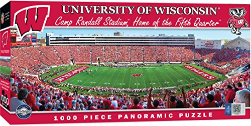 (MasterPieces Collegiate Wisconsin Badgers 1000 Piece Stadium Panoramic Jigsaw Puzzle)
