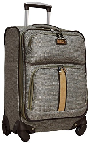 Nicole Miller Cameron Collection 20' Expandable Carry On Luggage Spinner (Tan)