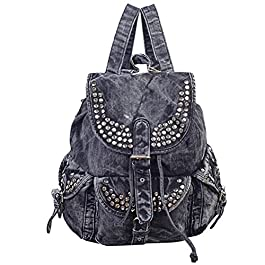 Donalworld Lady Casual Daily Backpack Denim Sweet Bag Hiking Rucksack