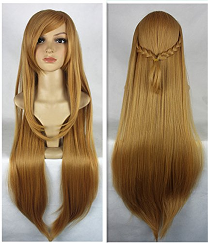 JYWIGS Yuuki Asuna Fancy Cosplay Wig Synthetic Heat Resistant Fiber Costume Hair Free Hairnet ()