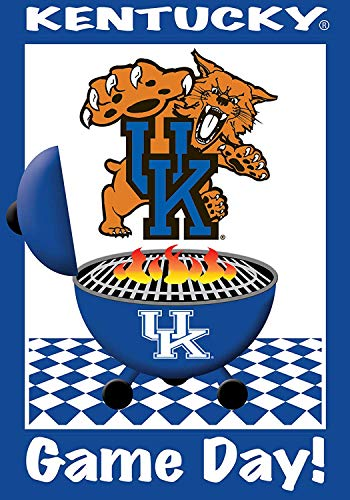 COCOBE University of Kentucky Wildcats - Game Day - Garden Size 12 Inch X 18 Inch Decorative Flag/Banner