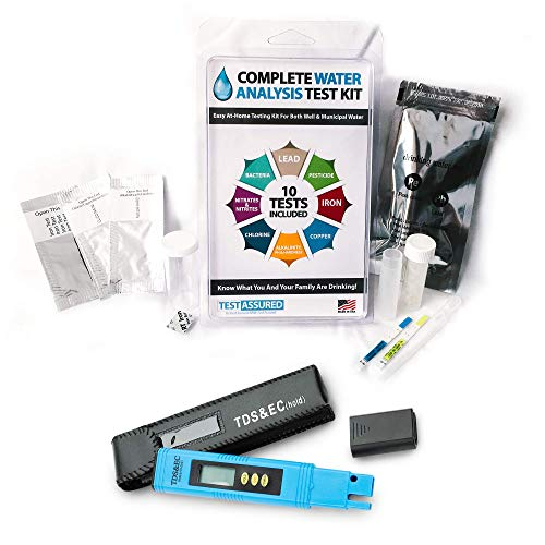 Bacteria Tap Water - Complete Water Test Kit with TDS Meter - Home Testing with Results in Minutes