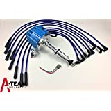 A-Team Performance BLUE HEI Distributor + 8mm SPARK PLUG WIRES Compatible With FORD FE 332 352 360 390 406 427 428