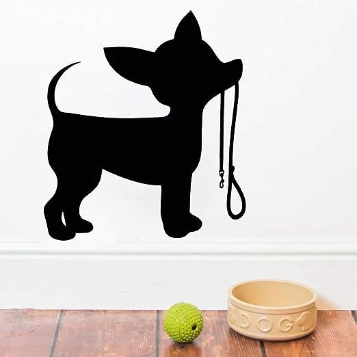 Etiquetas engomadas de la pared de la correa del pequeño perro ...