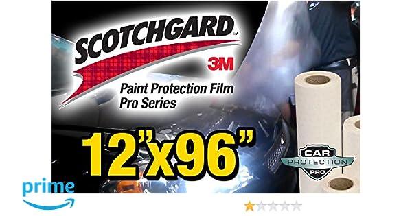 "12/"" x 24/"" Genuine 3M Scotchgard PRO Paint Protection Film Bulk Roll Clear Bra"