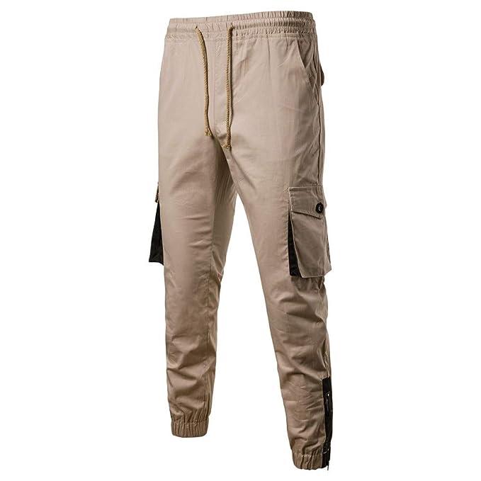 Pantalón para Hombre,JiaMeng Pantalones Largos Deportivos Chándal Monos Bolsos Monos Casual Bolsillo Deporte Trabajo