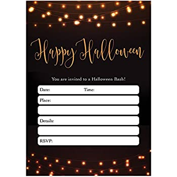 Amazon Com Modern Halloween Party Invites Envelopes Pack Of 25