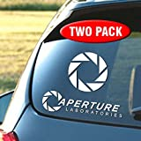 Aperture Laboratories - Two pack of vinyl decals - 6 year life