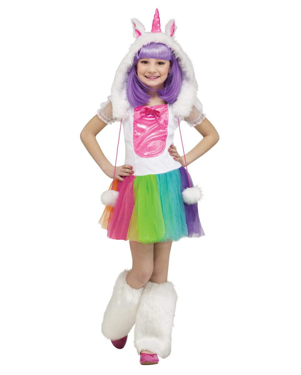 Horror-Shop Trendig süßes Einhorn Kinderkostüm für Karneval und Kindergeburtstage mit Fantasy Motto S