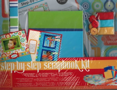 - 1 X Colobök Step-by-Step Scrapbook Kit - Circles Bold Colors