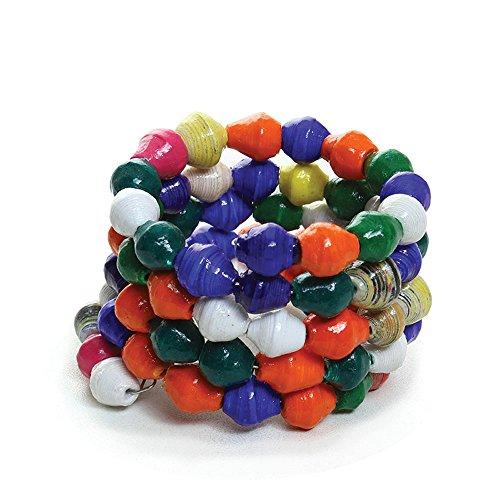 [Paper Beaded Spiral Bracelet] (Diy 80s Fancy Dress)