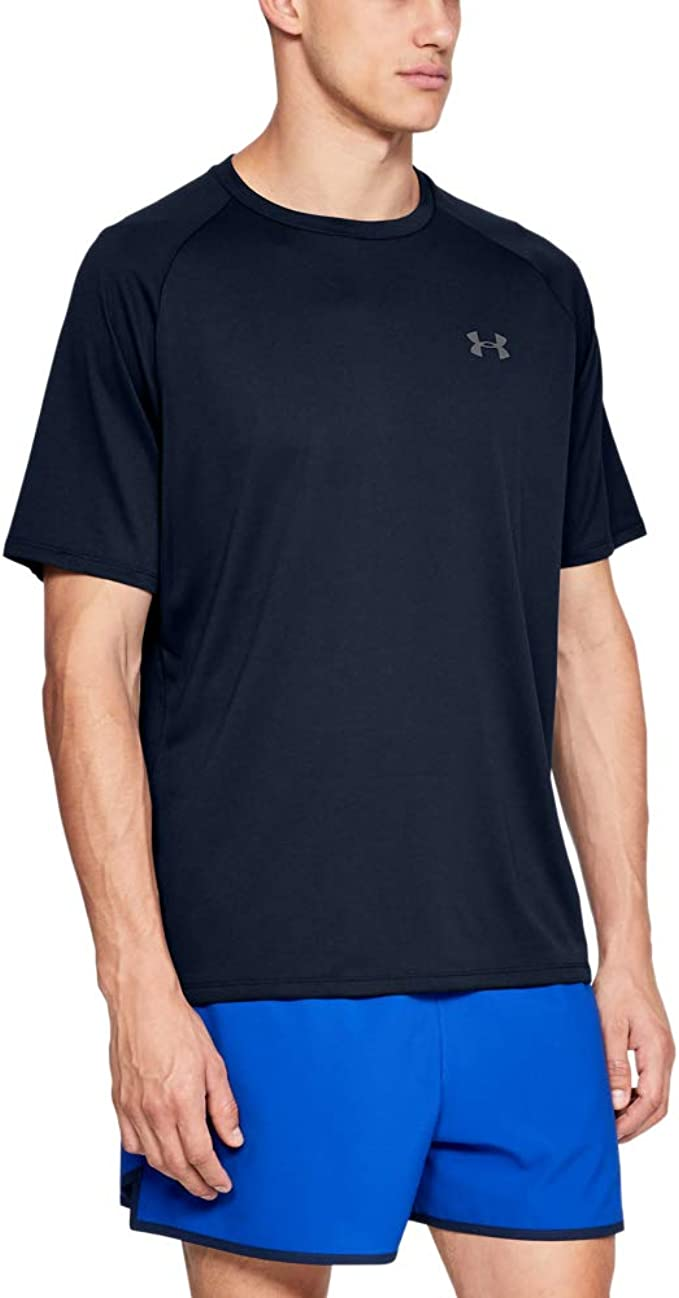Under Armour Men/'s Fitted Tech Short Sleeve Logo T-Shirt