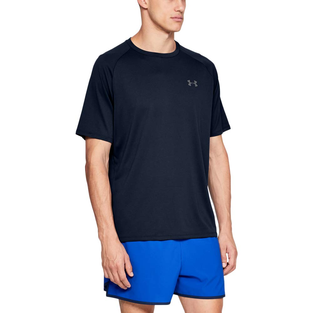 Under Armour mens Tech 2.0 Short Sleeve T-Shirt, Academy (408)/Graphite, Small