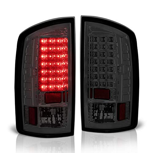 Dodge Ram 1500 2500 3500 Rear LED Style Replacement Tail Lights (Smoke)
