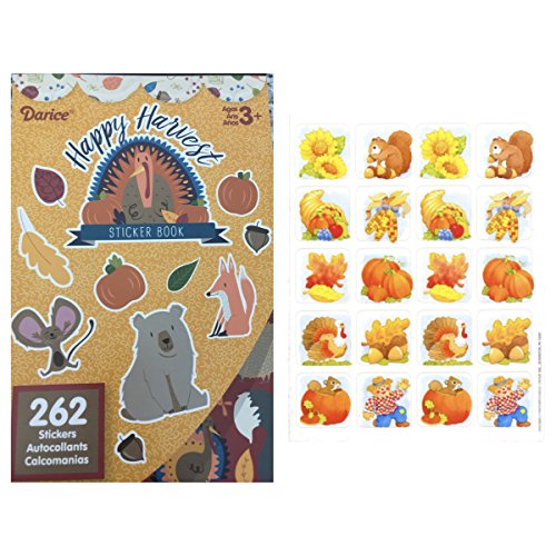 Three (3) Books of 262 AUTUMN Stickers (Total 786) ACORNS Animals Pumpkins Leaves TURKEY & Bonus - 20 Fall HARVEST Stickers - Classroom TEACHER Rewards ACTIVITY Motivation THANKSGIVING
