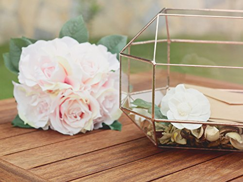 Large Geometric Conservatory Envelope Holder, Wedding Card Box, Glass Envelope Box, Wishing Well Box, Wedding Decor, Sweetheart Table, Gift Card Box, Money Box by Waen by Waen
