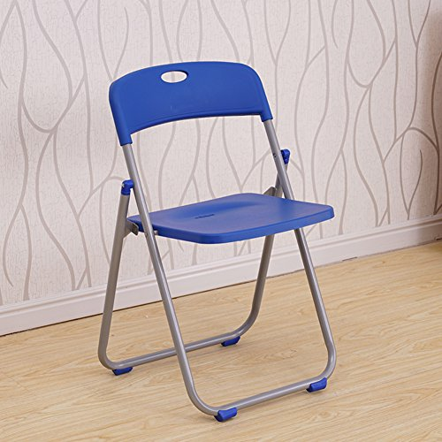 (SS&LL Household Folding Chair Adult Plastic Chair Office Computer seat Meeting Portable Training Stool-F)