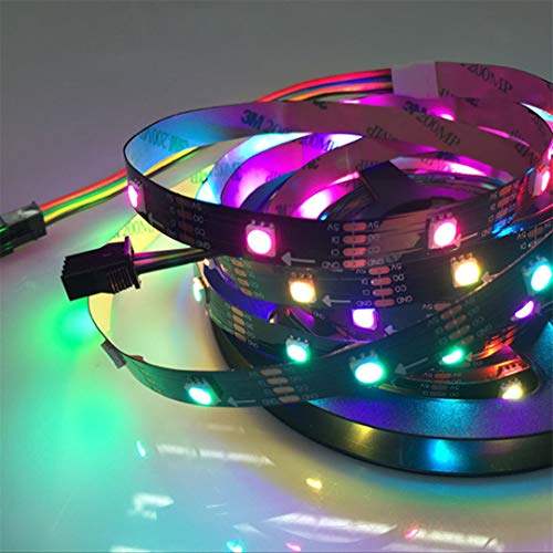 BGFHDSD APA102 Full Magic Color Addressable Led Strip Light 5M 30LED/M DC 5V IP20 LED Programmable LED Strips Project Lights Black PCB by BGFHDSD (Image #1)