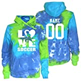 JANT Girl Custom Soccer Tie Dye Sweatshirt - Soccer Stacked Logo