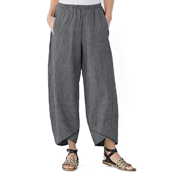 0e0382a525f7 Pantalones Mujer Verano 2019 Largos Moda para Casual Bolsillo SóLido ...