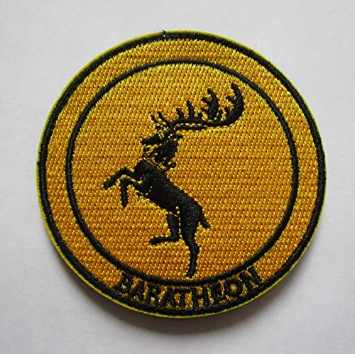 Game of Thrones House Baratheon Military Patch Fabric Embroidered Badges Patch Tactical Stickers for Clothes with Hook & Loop -