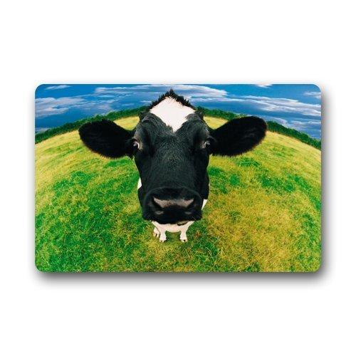 Dona Milk Bath - Top Fabric & Non-Slip Rubber Indoor/Outdoor Doormat Door Mats - Funny Milk Cow Face Funny Animal Dairy Floor Mat Rug for Home/Office/Bedroom