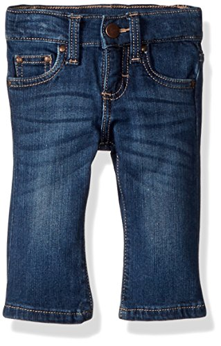 Wrangler Baby Girls Skinny Jean, Medium Blue, 6-9 Mo