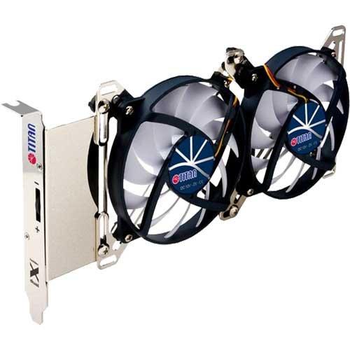 Quot Gelid Quot Pci Slot Fan Holder With Two Slim 120mm Uv Fans