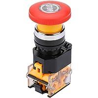 Noodschakelaar, zelfherstellend, noodstop, drukschakelaar LA38-11ZS 220/380 V, 10 A, paddenstoelhoofd, momentary switch