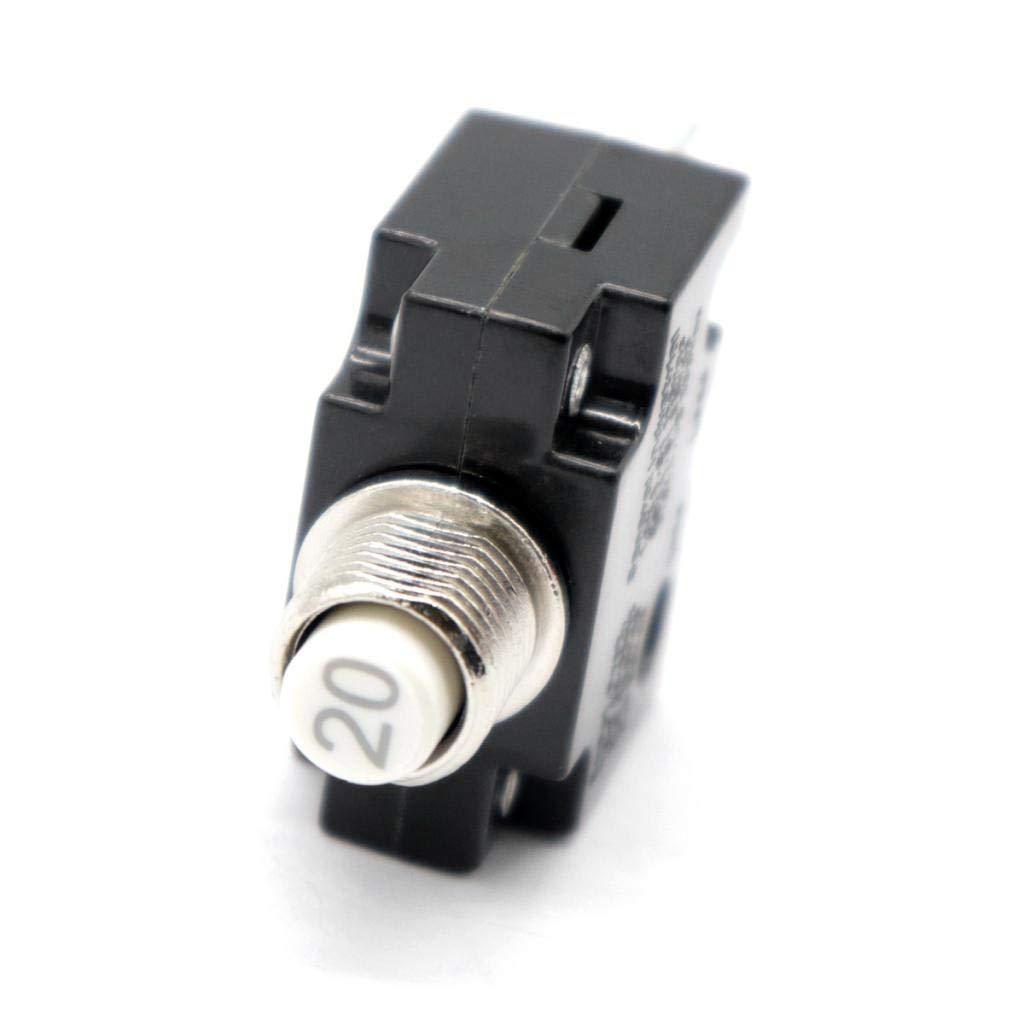 KESOTO 2 St/ü 12V 24V Drucktaster R/ücksetzbarer Schalttafeleinbau Leistungsschalter 30A 20A