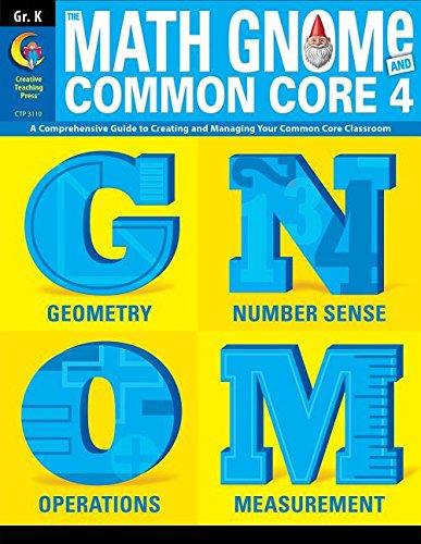 Kindergarter Math Gnome & Common Core Four