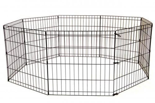 BestPet 8-Panel Tall Dog Playpen Crate Fence Pet Kennel Play Pen Exercise Cage, 42-Inch, Black