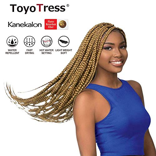 (100% Kanekalon Pre-Stretched Braiding Hair Made with Itch Free Hot Water Setting Synthetic Fiber Crochet twists Braiding Hair Extensions (24